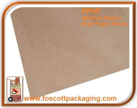 1b853b5881a FPKP01 MG Pure Ribbed Kraft Paper Sheets - Foscott Packaging
