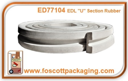 "EDL "" U "" SECTION RUBBER ED77104"