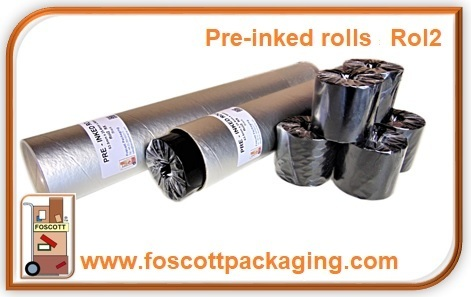 Rol2 Pre-inked Plastic Inks Roll Black 56mm