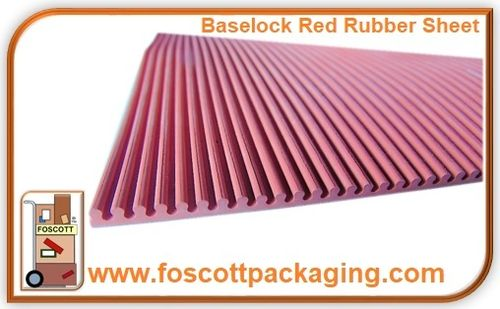 Baselock Red Ribbed Rubber Sheet - Standard