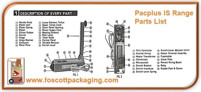 Pacplus Impulse Heat Sealer IS200C - Foscott Packaging