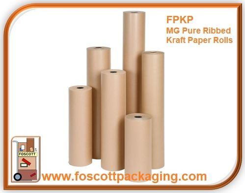 FPKP06 MG Pure Ribbed Kraft Paper Roll