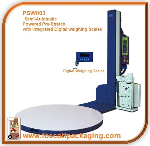 PSW003  Optimax® Power Pre-stretch Pallet Wrapping Turntable With Integrated Digital Weighing Scales