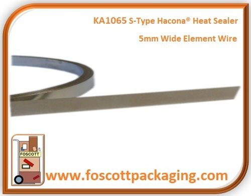 KA1065  For Hacona® S-TYPE Heat Sealers  Flat 5mm Element Wire / Sealing wire
