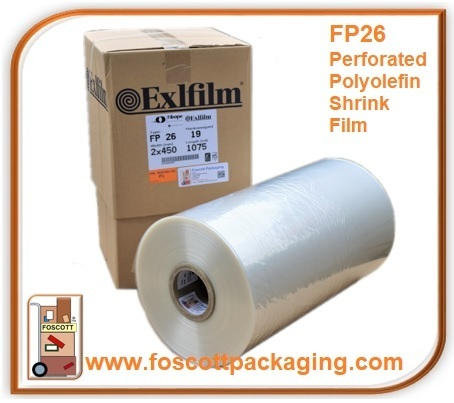 FP26 POFCF Perforated Polyolefin Centerfold Shrink Film 450mm x 900mm